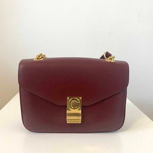 CELINE - C Bag Medium Burgundy (New with tags)